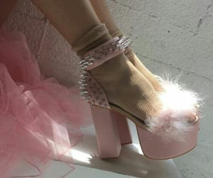 lady, lolita, and high heel shoes image