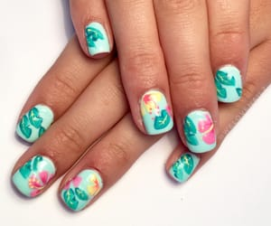 colorful, colorful nails, and flowers image