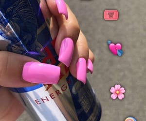 girl, pink, and pink nails image