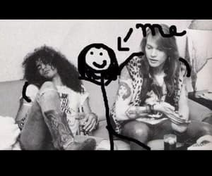 axl rose, black&white, and funny image