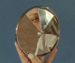 aesthetic, eye, and cracked mirror image
