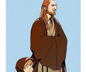 Anakin Skywalker, star wars, and qui gon jinn image