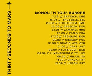 30 seconds to mars, dates, and monolith tour image