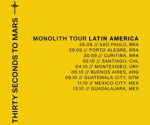 30 seconds to mars, latin american, and tour image