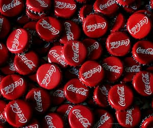 red, coca cola, and photography image