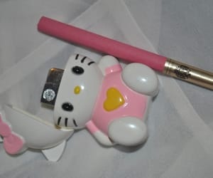cigarette, hello kitty, and pink image
