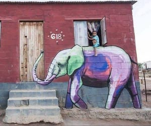 elephant, art, and kids image