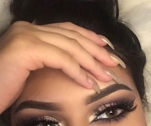 eyebrow, eyelashes, and makeup image