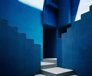 architecture, blue, and stairs image