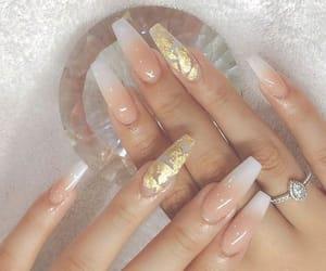 nails, acrylics, and girl image