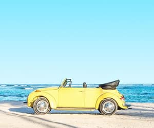 beach, blue, and cars image