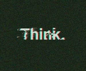 think, wallpaper, and black image