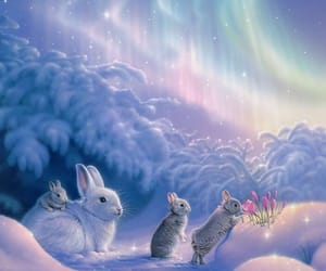 aesthetic, conejo, and bunny image