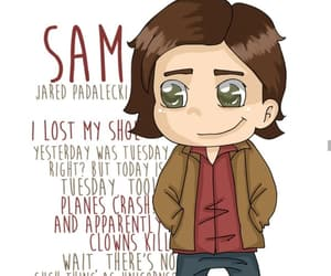 angel, demon, and sam winchester image