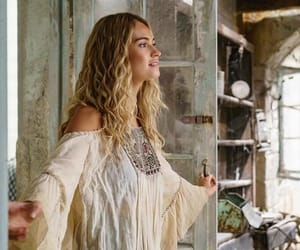 lily james, mamma mia 2, and Greece image