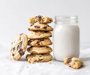 breakfast, Cookies, and milk image