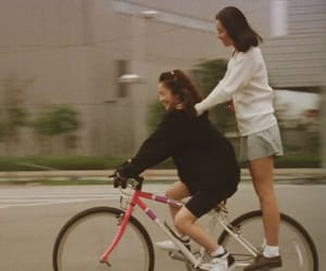 bicycle, film, and girl image