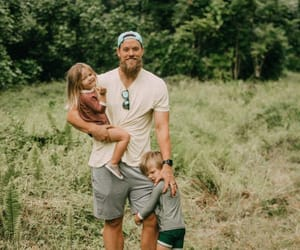 dad, kids, and nature image