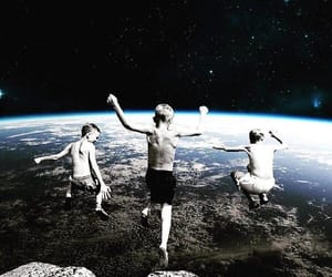 earth, jump, and world image