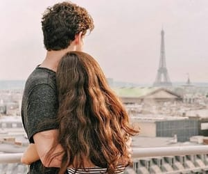 couple, paris, and shawn image