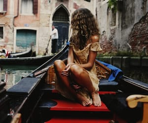 girl, venice, and travel image