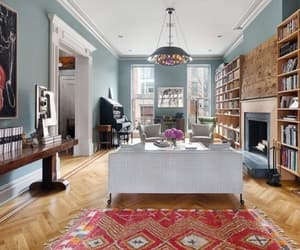 brownstone, living room, and decor image