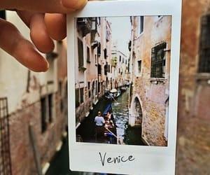 canal, italy, and polaroid image