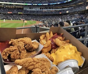 food and chicken and fries image