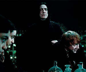 funny, gif, and harry potter image