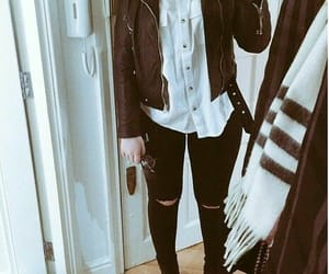 boots, jacket, and tanya burr image