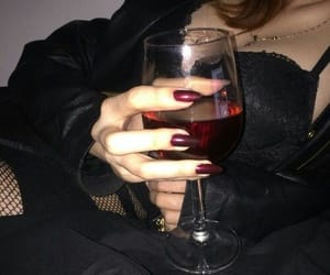 black, wine, and red image