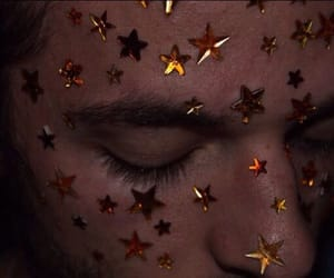 face, gold, and stars image