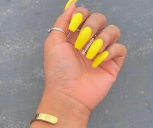 nails, yellow, and 💛 image