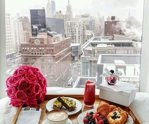 view, ❤, and breakfast in bed image