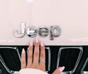 car, hand, and jeep image