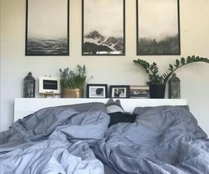 bed, plants, and aesthetic image