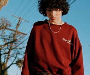 fashion, finnwolfhard, and sky image