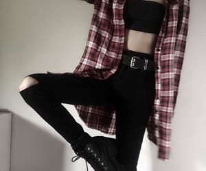 emo, fashion, and goth image