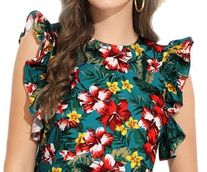 women's blouses, cute blouses, and printed blouses image