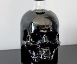 skull, black, and bottle image