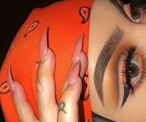 makeup, nails, and orange image