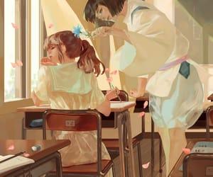 art, girls, and studio ghibli image