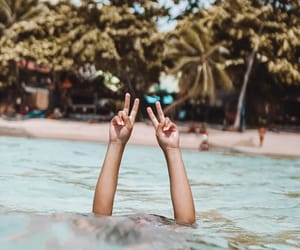 beach, fun, and peace image