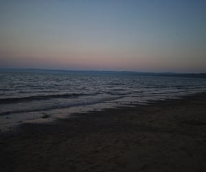 sand, sunset, and water image