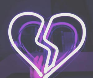 neon, purple, and heart image