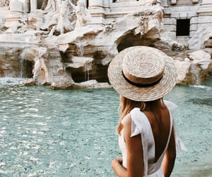 girl, travel, and hat image