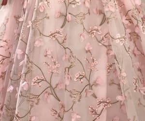 delicate, fabric, and flower image