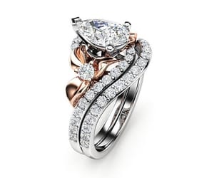 diamond ring, diamondring, and etsy image
