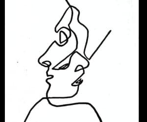 art, drawing, and kissing image