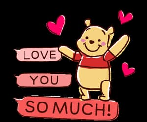 cartoon, pink, and i love you so much image